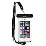 IPX8 Waterproof Case,Mpow Universal Durable Underwater Dry Bag Best Water Proof, Dust Dirt Proof, Snowproof Pouch Touch Responsive and Watertight Sealed System for Apple iPhone 6s, 6 Plus etc-Black