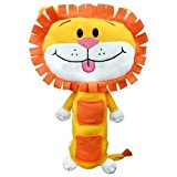 Childrens Car Seat Belt Buddies Soft Toy Pet Travel Pillow - Lion