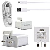Samsung Galaxy A3 and A3(2016) - 100% NEW GENUINE ORIGINAL AUTHENTIC SAMSUNG® CHARGER 2.0 AMP WALL UK CHARGER AND DATA CABLE (100% Genuine UK Mains Charger)