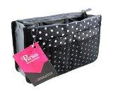 Periea Handbag Organiser, 12 Compartments - Chelsy (Black/White, Medium)