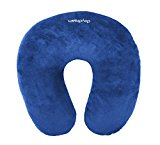 daydream Blue Travel Neck Pillow with Microbeads