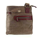 TRP0227 Troop London Classic Across Body Bag (Brown)