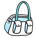 jeansian 3D Jump Style 2D Drawing From Cartoon Paper Comic Animation Hand Bag WBH014 Blue