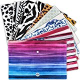 Popper Wallets - Premium Quality Document Wallets - 12 Piece Mixed Designer Set File Folders - A4 Size Poly Folder - Graphic Document Holders - Stylish Office Products by Office Originals