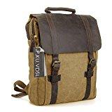Canvas Backpack, P.KU.VDSL Laptop Backpack, Vintage Canvas Backpack, Casual Daypacks, Outdoor Traveling Rucksack, Retro Travel Bags, Shoulder Bag for Men Outdoor Sports Fit 15