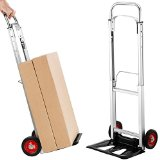 VonHaus Folding Hand Truck / Sack Trolley Free 2 Year Warranty with 90kg Loading Capacity, Telescopic Handle, Aluminium Frame