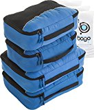 Packing Cubes 4pcs Value Set for Travel - Plus 6pcs Luggage Organiser Zip Bags (Blue)
