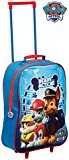 Kids Trolley Cabin Bag Suitcase with Wheels and Telescopic Handle - Ideal for short breaks, holidays, sleepovers and school trips (Paw Patrol Boys)