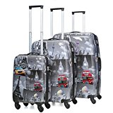 5 Cities Jetsetter Hard Shell Polycarbonate 4 Wheel Spinner Luggage Suitcase Travel Trolley Cases with TSA Approved 3-Digit Combination Lock (21