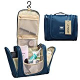 Fafada Deluxe Travel Kit Organizer Hook Bathroom Storage Hanging Cosmetic and Grooming Bag Toiletry Bag Travel Organizer Blue