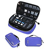 BAGSMART Travel Electronic Accessories Thicken Cable Organizer Bag Portable Case - 4 Layer Purple