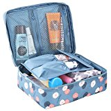 HiDay Floral Print Cosmetic Makeup Bag Travel Toiletry Organizer - 5 Compartments