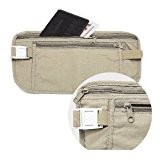 Money Belt Passport Holder Holiday Travel Security 2 Zipped Pockets Waist Accessory Mobile Cell Phone