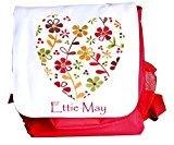 Girl's Backpack,School Ruck Sack, Personalised, Nursery Bag,Vintage Heart