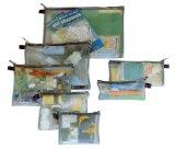 Travelon Set of 7 Packing Envelopes, Assorted Sizes (Black)