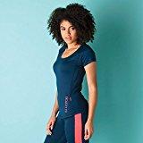 Womens Elle Sport Womens Mesh Panel Running T-Shirt in Dark Blue - 10