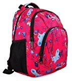 High Quality Small Large Womens Girls Butterfly Hearts Chervi College School Backpack Hand Luggage Bag (Small, Pink Butterfly)