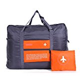 32L Large Foldable Travel Duffel Bag, WITERY Waterproof Lightweight Multifunction Folding Travel Luggage Bag / Sports Duffel Bags / Packing Organizer / Sports Gym Storage Bag Orange