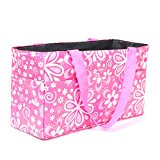 Gosear® Floral Pattern Outdoor Travel Portable Mummy Mother Baby Diaper Nappy Storage Organizer Tote Bag Handbag Cosmetic Bag Pink