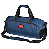 Cool NEW! MadMixi Duffel Style Carry On Sports Travel Bag/Gym Bag with Shoulder Strap, Zippered Compartments (Skywalker Blue, 18