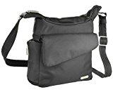 Anti Theft Messenger Bag Travel Handbag Slim Lightweight Design Black