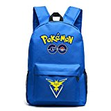 MasiMiele Pokemon Unisex Classic Travel Laptop Backpacks School Bookbags (Blue-Yellow)