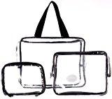 Danielle Three-Piece PVC Bag Travel Set