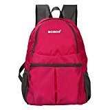 MCIRCO 20L Super Lightweight Waterproof Backpack Foldable to a Single Shoulder Bag for Hiking, Biking, Climbing and Other Outdoor Activities (Rose)