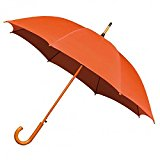 Walking Woodstick \umbrella In Various Colours (Orange)
