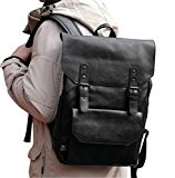 Unique Travel Rucksack Laptop Duffle Backpack PU Leather Tote Bag