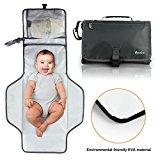 Becko Multi-functional Diaper Bag / Travel Padded Backpack / Adjustable Shoulder Bag / Tote Handbag with Changing Pad (Gray)