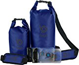 Bago Dry Bags Set - SEE-THROUGH Window Waterproof 100% SATISFACTION GUARANTEED. Plus Cell Phone Bag, Adjustable Shoulder Strap. Fits in your Backpack, Sailing ... Lightweight & Heavy Duty (5L+10L-Blue)