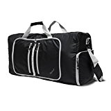 Ryaco [Foldable] R951 Duffel Bag, Gym Bag, Sports Duffels, Luggage with Water Resistant Fabric & Padded Shoulder Strap for Women & Men - Travel, Weekend Trip