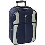 Karabar Large 26 Inch Expandable Suitcase (Navy/Silver)