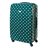 Karry Trolly Hard Case Travel Suitcase Turquoise Dots 813 / 818 - Turquoise, XXL Travel Suitcase 120 L Turquoise Dots 813 / 818, 80 x 54 x 30 cm