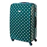 Karry Trolly Hard Case Travel Suitcase Turquoise Dots 813 / 818 - Turquoise, XXL Travel Suitcase 120 L Turquoise Dots 813 / 818, 80 x 54 x 30 cm