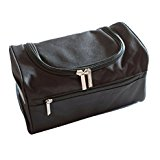 Hanging Men's Travel Toiletry Bag Wash Bag Shaving Dopp Kit - Perfect For Grooming & Travel Size Toiletries (Black)