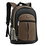 Laptop Backpack, P.KU.VDSL 15 Inch Notebook Backpack Backpack, 15'' Laptop Rucksack Daypacks with Multi-Compartment, Computer Shoulder Backpacks, Travel Bags, Business Backpack (A - Coffee)