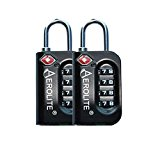 Aerolite TSA Padlock 4-Dial Combination Pin Security TSA Approved Travel Luggage Suitcase Bag Lock