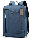 Bronze Times (TM) Premium 15.6-inch Shockproof Canvas Laptop Backpack Travel Bag (Sky Blue)