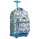 J World New York Sunrise Rolling Backpack, Spring, One Size