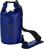 Bago Dry Bags Set - SEE-THROUGH Window Waterproof 100% SATISFACTION GUARANTEED. Plus Cell Phone Bag, Adjustable Shoulder Strap. Fits in your Backpack, Sailing ... Lightweight & Heavy Duty (10L-Blue)