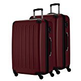 HAUPTSTADTKOFFER® Suitcase set 2 items - 82L+82L (Burgundy)