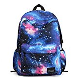 NAOKER Galaxy Pattern Vintage Style Unisex Fashion Casual School Travel Laptop Backpack Rucksack Daypack Tablet Bags