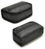 MIER Lunch Box Bag Food Storage Cooler Bags Insulated Travel Kit for Women an Men, Set of 2(Black 2pcs)