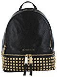 Michael Kors Women's Rhea Small Studded Leather Backpack Backpack Black (Nero)