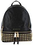 Michael Kors Women's Rhea Small Studded Leather Backpack Backpack Black (Nero)