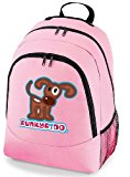 Funky Fido Girls or Boys Brown and White Staffie Dog School Backpack Pink Size 30 x 42 x 20 cm