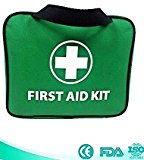 103 Piece Well-stocked Premium First Aid Kit Bag. Universal for Emergency, Home, Car, Office, Travel, Workplace, Caravan, Camping, Hiking, Sports, School - Includes - 2 x Eyewash, 2 x Instant Cold (Ice) Packs, Emergency Blanket and Many More to Protect You and Your Family. 100% CE and FDA Approved.