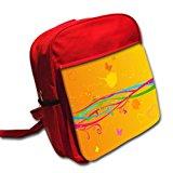 Amore 10006, Valentines, Designer Red Kids shoulder Backpack/ Rucksack/School Bag.